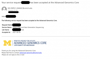 agc sample arrived at core email
